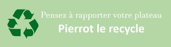 Pierrot recycle vos plateaux de fruits de mer en polystyrene